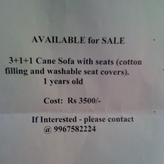 Cane sofa for sale
